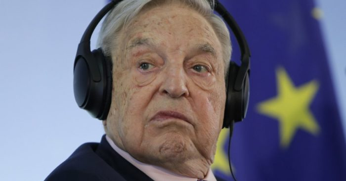 In this June 8, 2017 photo, Hungarian-American investor George Soros attends a press conference at the Foreign Ministry in Berlin, Germany. (Photo AP/Ferdinand Ostrop, File)
