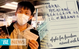"""Cheer them up! The """"Writing to You"""" activity in districts in Hong Kong is sending support to jailed"""