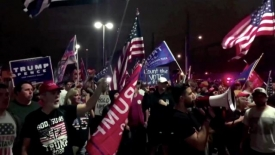 Trump supporters chant outside counting centre